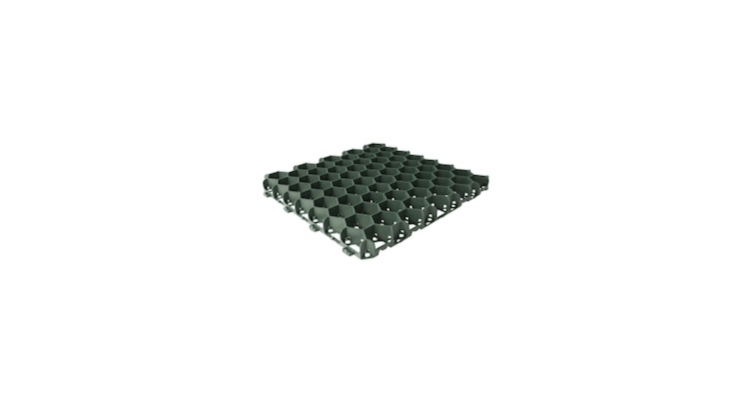 ASuregreen PP40porous grass paver made of \100 recycled plastic is available in green (shown) and black and measures 400 millimeters square (about \19.7 inches). Its open honeycomb structure &#8\2\20;promotes excellent root growth where a grass surface is preferred,&#8\2\2\1; notes the manufacturer. It is £\1\2.\25 including VAT (bulk discounts are available) from Suregreen.