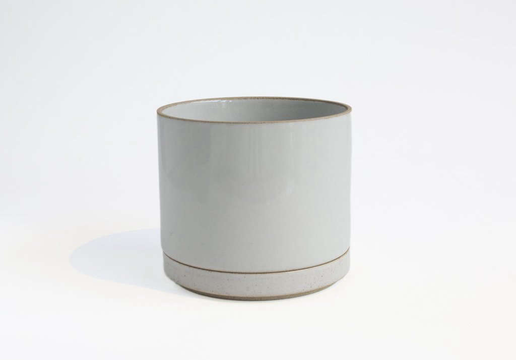 The Large Gloss Grey Planter is 5.75 inches in diameter and five inches tall; $45.