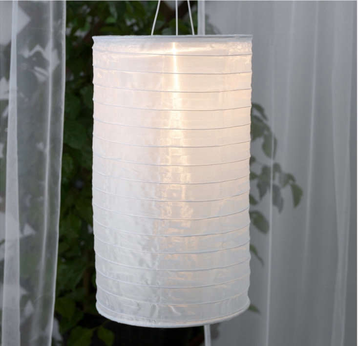 A tube-shaped Solvinden Solar-Powered Pendant Lamp  is &#8