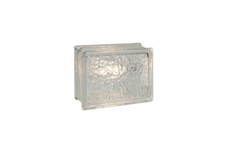 A six-by-eight-inch LED clear Paver-Lite block light is made of molded glass and suitable for use in a driveway; \$55.04 from Dekor Lighting.