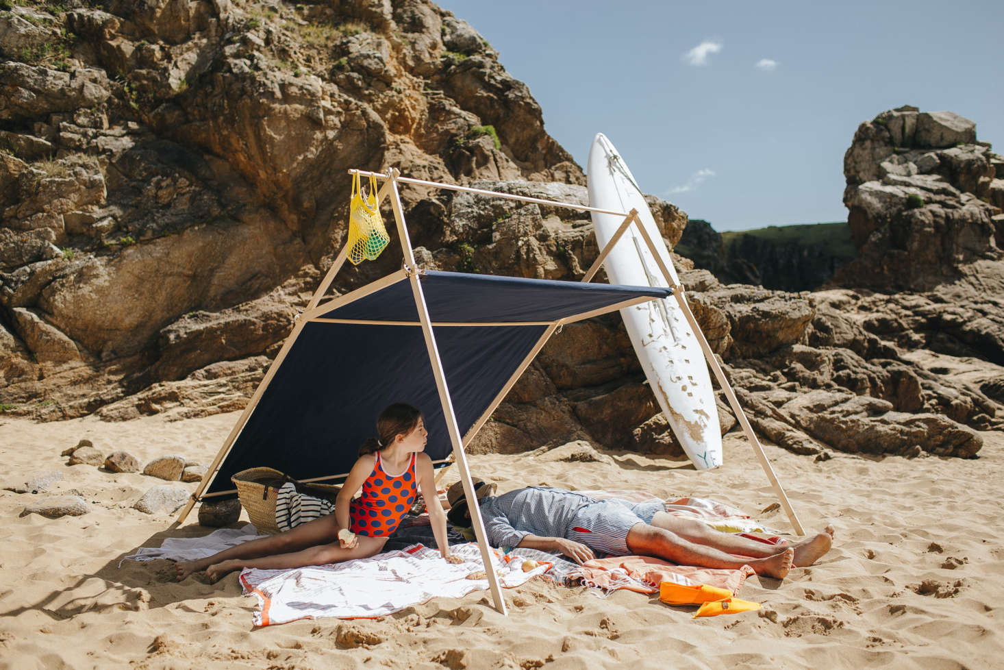 There are four styles of tents available, each named for a French island. Here, the Belle-Île, which is available in three sizes up to the medium size shown here;€359.