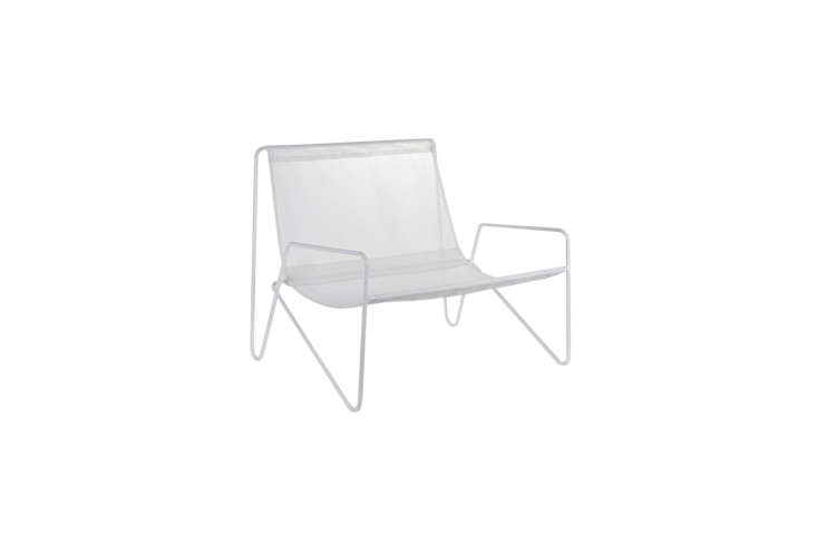 The Serax Outdoor Canvas Chair by Paola Navone has a canvas sling seat. It&#8