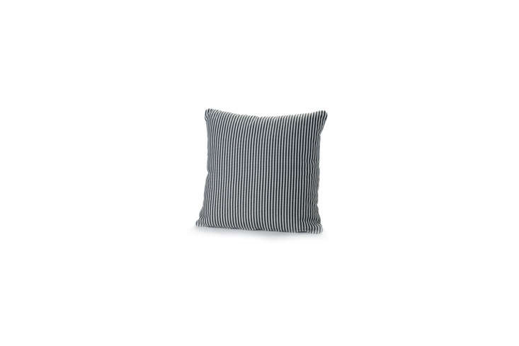 The Serax Stripe Cushion (shown in Erba) designed by Paola Navone for outdoor use is $5.99 at Mohd.