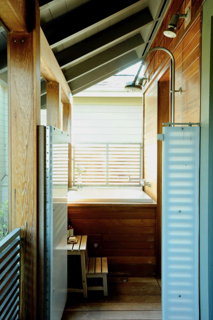 Translucent panels create privacy without blocking light in Remodelista editor in chief Julie Carlson&#8