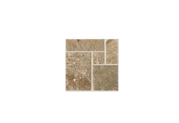 Made of Italian marble by Arezia, a box of five sheets of preassembled mosaic Module Opus Romano Quartzite tiles (each measuring 40 by 40 centimeters) is €77. from Chebagno.