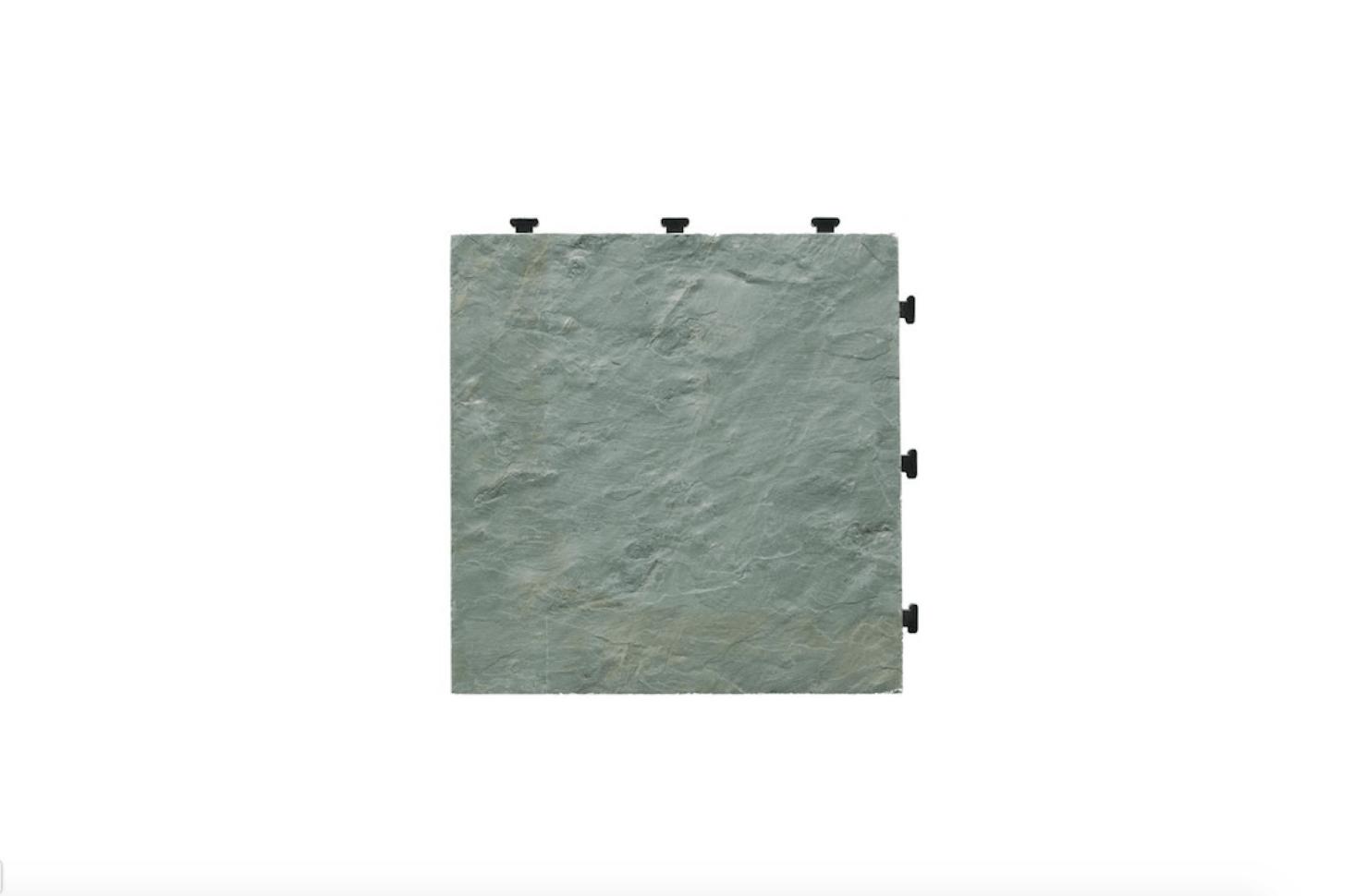 Made of natural slate bonded to an interlocking plastic base, a box of sixEzyTile Slate Tilesmeasuring src=