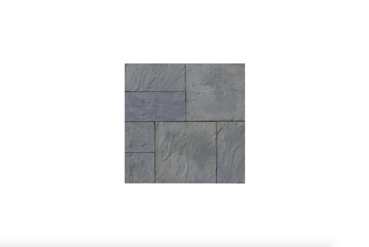 A 48-square-foot pallet of Variegated Basketweave York Stone Pavers, available in two sizes ( by  inches is shown); $3loading=