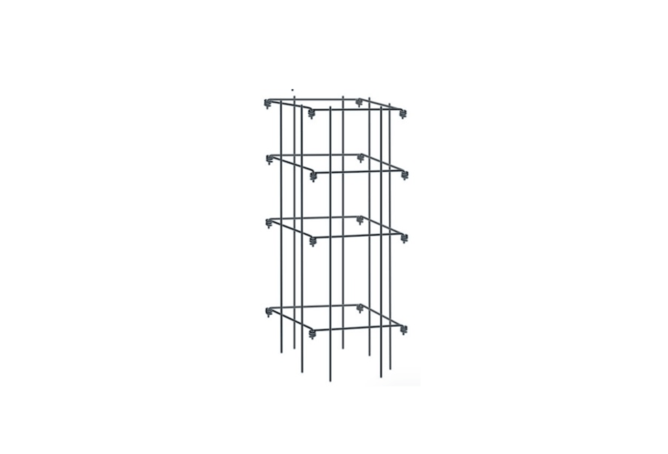 A set of four sturdy \10-gauge-wireTomato Cages with eight-inch-square openings (so you easily can get your hand inside to snag a ripe beefsteak). The 39-inch-high cages fold flat for winter storage and are available in four colors, including black (shown) and green (in the featured photo at top). A set is \$59.95 from Gardener&#8\2\17;s Supply.