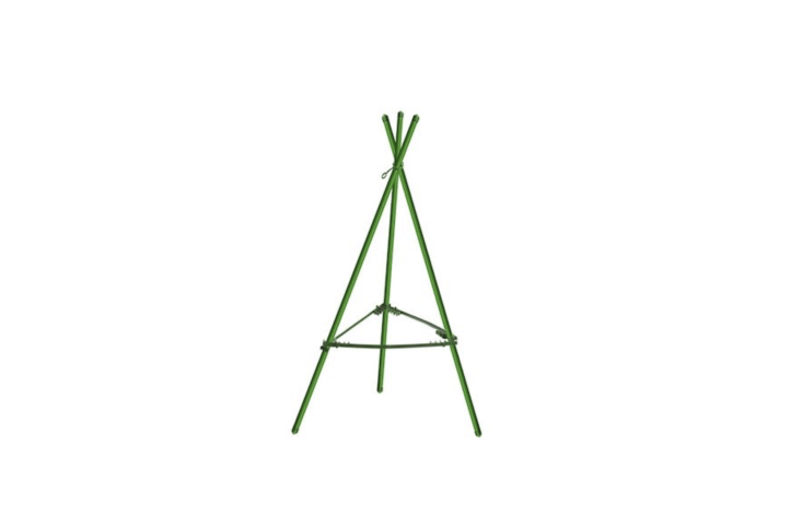 A triangularHeavy Duty Tomato Cage from Mr. Garden has \23.5-inch rust-resistant steel stakes (making it a suitable support for cherry tomato bushes); \$\14.35 via Amazon.