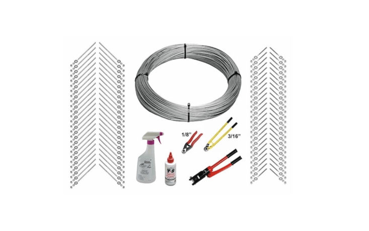 A Full Deck Cable Railing Kit includes loading=
