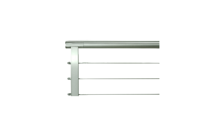 A custom option, a Rainier Stainless Steel Cable Railing suitable for use outdoors or in is fabricated to your dimensions and &#8