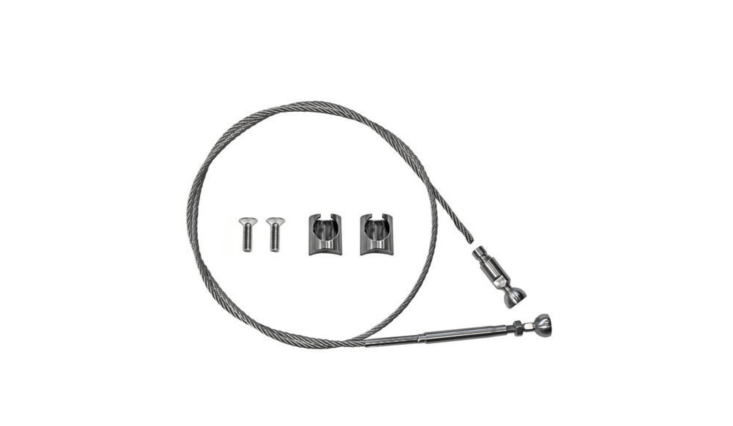A DIY Cable Railing Kit with a tubular mounting system is available with three to 50 feet of cable. For more information and prices, see S3i.