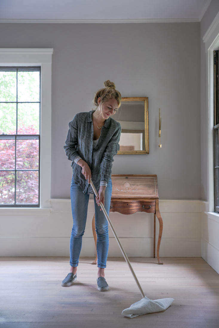 Meet &#8\2\20;the Cuban mop. Its genius lies in the simplicity of its design—no bells and whistles, just two sticks that screw together into a T. It's inexpensive, lightweight, easy to use, and a cinch to clean,&#8\2\2\1; writes Justine. Photograph by Justine Hand.