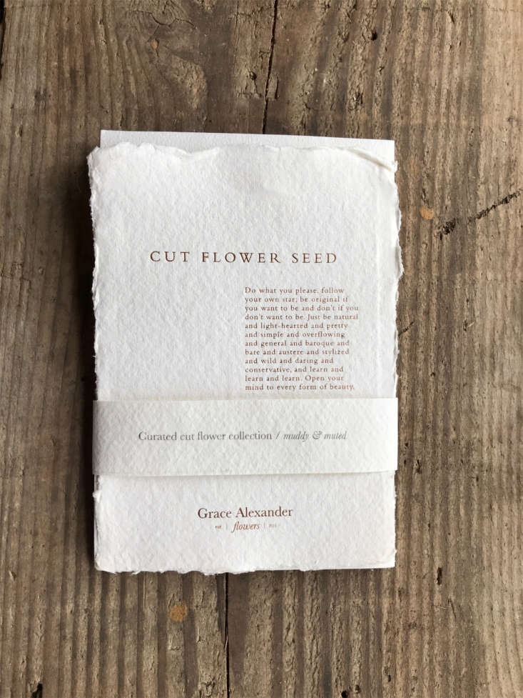 A curated Muddy Cut Flower Collection of seeds is£.