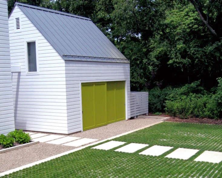 See more of this garage inLandscape Architect Visit: A Classic Lake Michigan Summer House by Kettelkamp & Kettelkamp. Photograph courtesy ofKettelkamp & Kettelkamp.