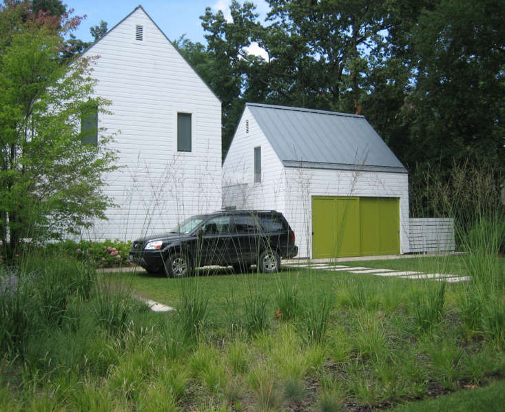For more on this driveway with grass block pavers, seeLandscape Architect Visit: A Classic Lake Michigan Summer House by Kettelkamp & Kettelkamp. Photograph courtesy of Kettelkamp & Kettelkamp.