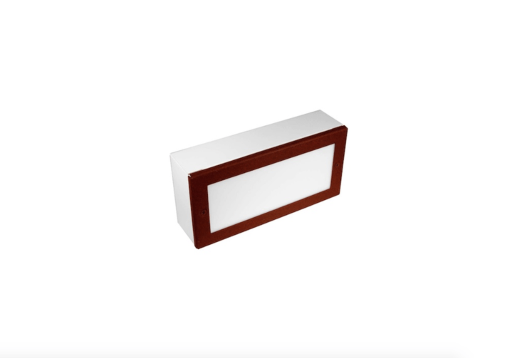 From Focus Industries, aRectangle LED Step Light has a high-impact acrylic lens and is designed for driveway use (it supports up to 8,800 pounds). It is available in \1\2 finishes, including aluminum with rust (shown) at prices starting at \$\194.40 at YLighting.