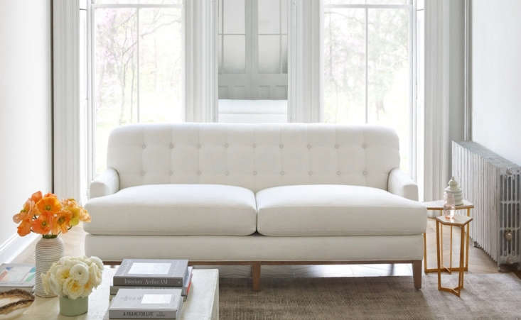 Founded by Nidhi Kapur,Maiden Homeoffers nontoxic furniture handmade in North Carolina. Cutting out the middleman, Maiden Home's four sofas start around \$\2,000 (shown here is The Ludlow).