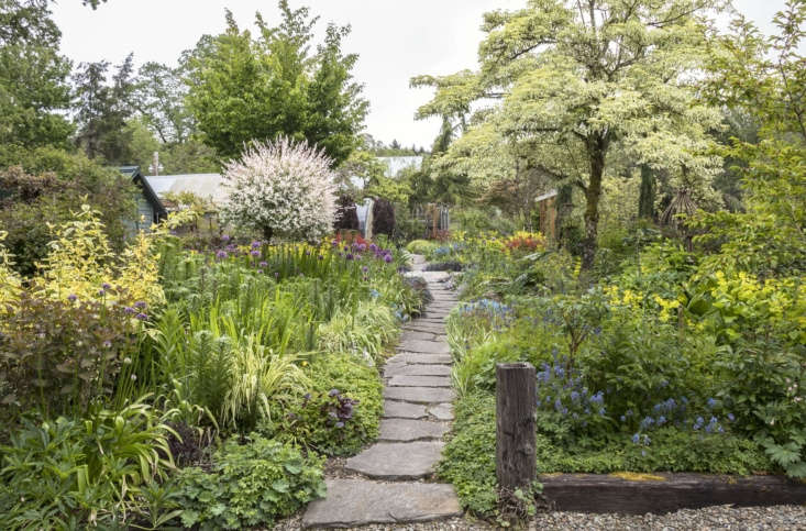 The entrance to the garden in spring.