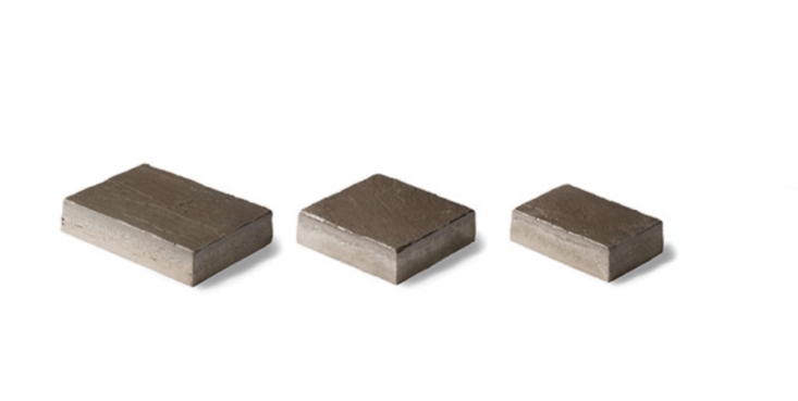 Richcliff concrete permeable pavers are available in four colors and three sizes; they have an embossed surface texture. For more information and prices, see Unilock.