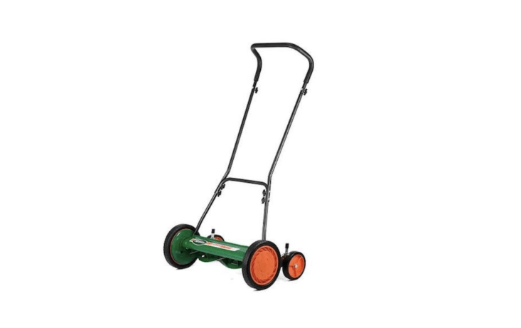 Brill&#8\2\17;s \20-inch Classic Push Reel Lawn Mower has \10-inch dual tracking wheels and rugged radial tires; \$3\27.74 at Sears.