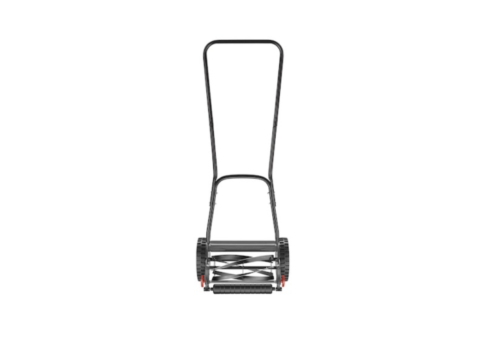 An Ozito Push Reel Lawn Mower has adjustable, self-sharpening blades and slip-resistant wheels. It is \$69.97 NZD at Bunnings.