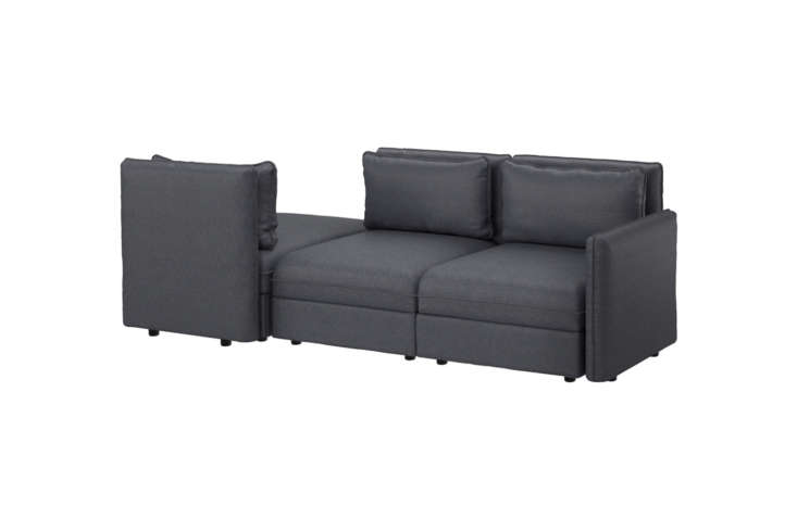Ikea&#8\2\17;s Vallentuna Sleeper Sectional Sofa can be ordered in different configurations. As shown here, the left seat pulls out to a single bed at the base of the sofa; \$\1,3\20 at Ikea. For more options, see all theVallentuna sectional products on Ikea.