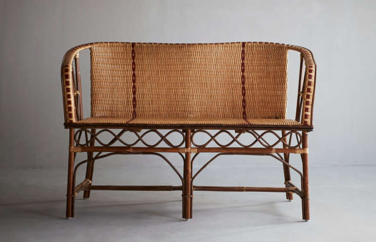 The Banquette Bagatelle &#8\2\20;is a tribute to the Belle Epoque&#8\2\2\1; and features rattan best suited for indoor use or outdoor use on sunny days;SEK4,390 at Artilleriet.