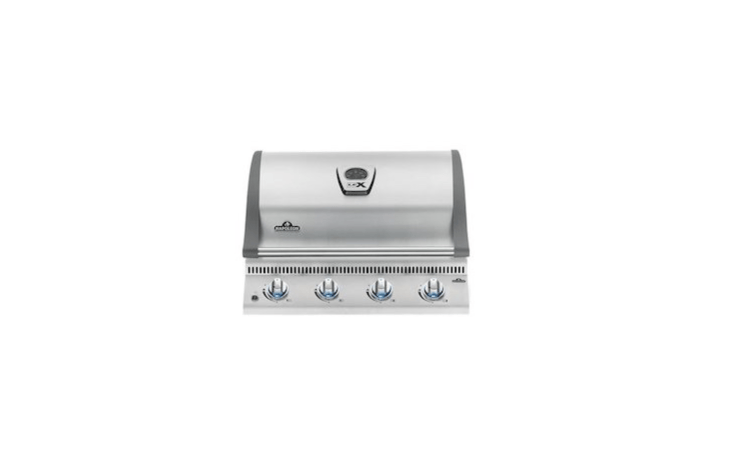 From Napoleon, a LEX 485 Built-in Grill Head with four burners (with a total of 48,000 BTUs) and a stainless steel finish is $999 at Woodland Direct.
