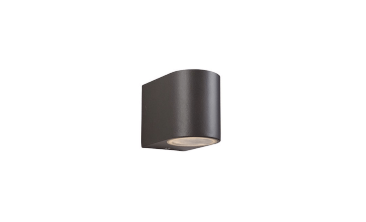 The Scenic Outdoor Wall Lamp in a gunmetal finish is £.90 from Sparks Electrical.