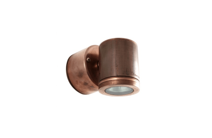 A copperRetro Wall Down Light with a built-in transformer by Hunza Design is£0 at Moonlight Design.