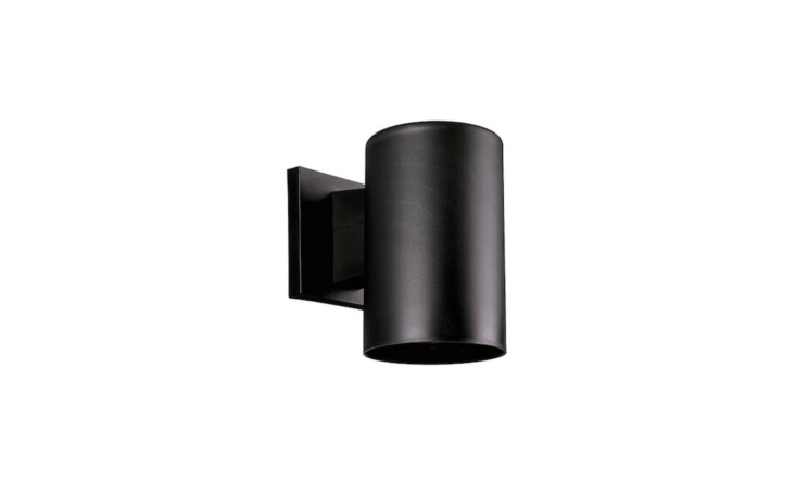 A cylinder downlight, the Black Outdoor Wall Light Accessory, is $76. at Progress Lighting.