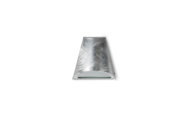 Weatherproof, aSt. Ives Funnel Light protected by a coating of hot galvanized steel is &#8