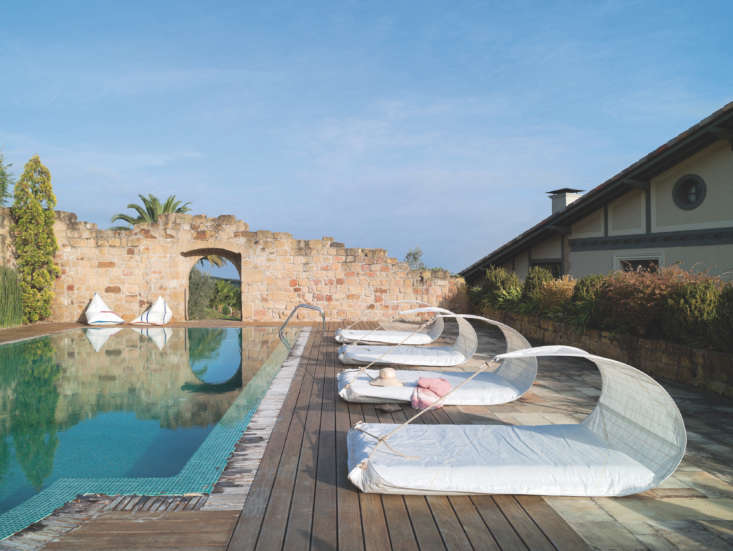 One of Dvelas&#8\2\17;s greatest hits, theVaurien Floating Lounger, \$\1,850, has an inner airbed and built-in sun protection courtesy of its fiberglass-enforced curved sail.