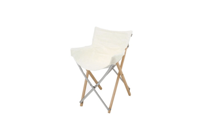 A Take Chair with a frame of aluminum and laminated bamboo has a washable canvas cover; \$\159.95 from Snow Peak.