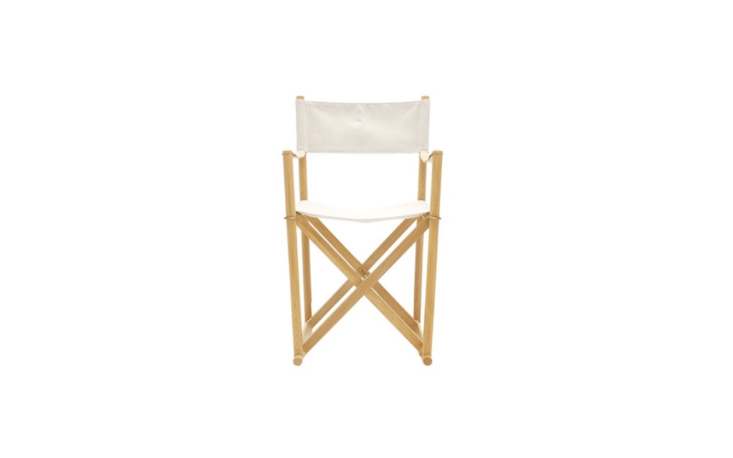 The ultimate in outdoor elegance: the Folding Chair by Mogens Koch was designed in \193\2 and is made of oil-treated beech and mahogany with brass fittings and a natural canvas cover. It is currently on sale for£547 (marked down from £644) at the Conran Shop.