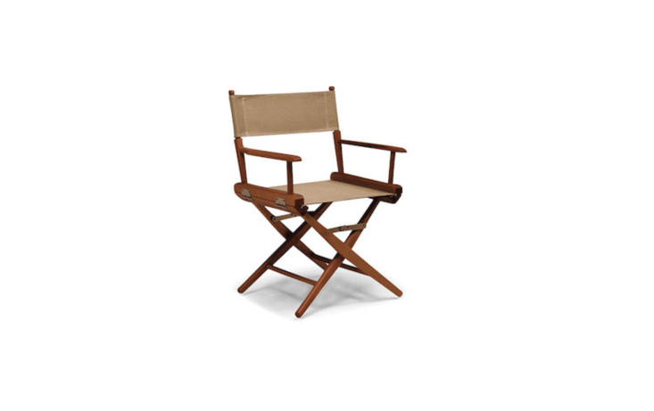 With a frame made of North American hardwood and a canvas seat and back available in \14 colors, a World Famous Director&#8\2\17;s Chair is \$\189 from Thos. Baker.