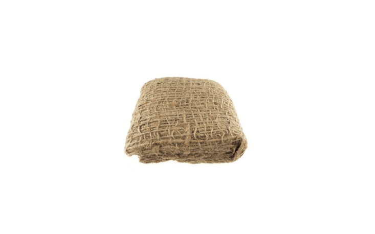A five-yard roll of burlap mesh Erosion Control Cloth is \$\15.64 from PartySpin via Etsy.