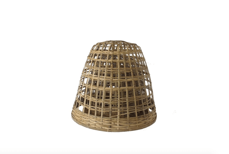 A woven Bamboo Cloche (medium size) is an ideal support for a mounding plant such as a pelargonium, which will grow through its web and hide the cloche beneath flowers. It is \$80 NZ from Garden Objects.