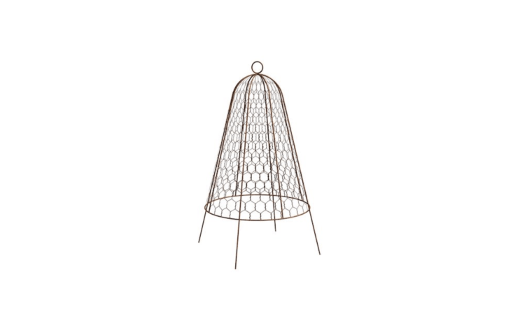 A \20-inch-high metal Garden Cloche Plant Protector Bell is \$\2\2.75 at Amazon.