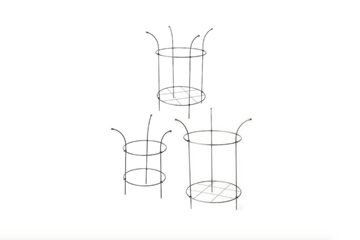 Adjustable Grow-Through Supports are available in three sizes and are useful for holding bushy plants such as peonies in place; \$3\2.95 to \$49.95 for a set of two from Gardener&#8\2\17;s.