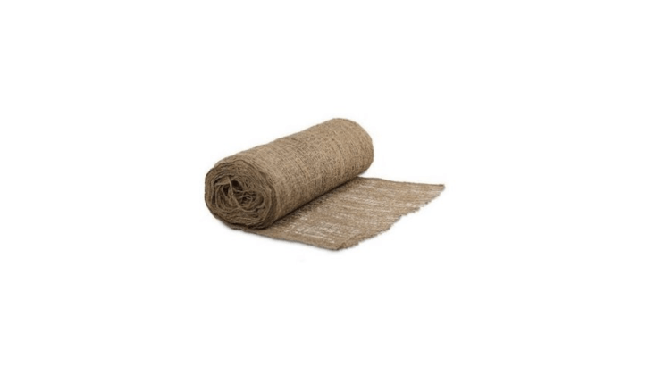 A \2\25-foot roll of four-foot-wide Jute Mesh Netting is \$\149.95 fromA.K. Trading Co. via Amazon.