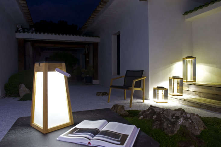 Our favorite model, the Tecka Teak Lantern; €9, works equally well indoors and out. It&#8