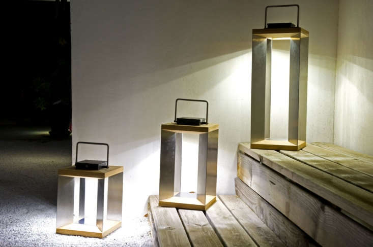 Teak and stainless steel Blade Lanterns come in three sizes. The -inch-tall Teka Teak version (shown center) is $449.5loading=