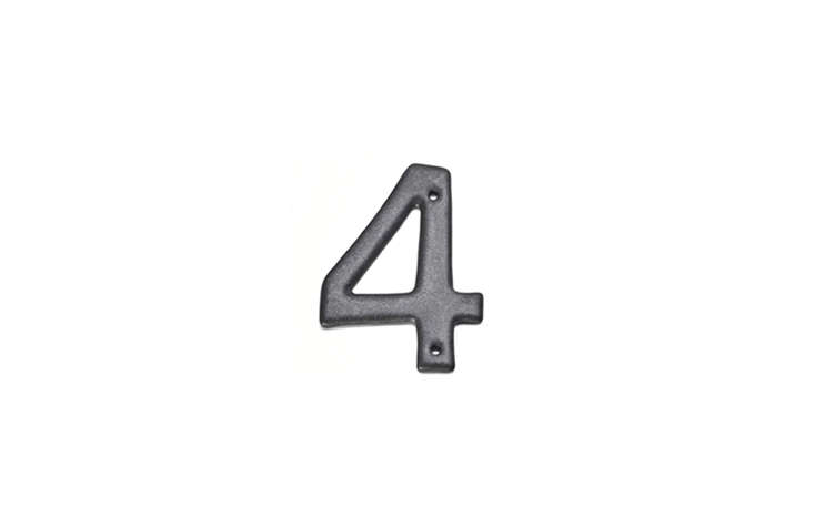 The result is a simple but sophisticated house number. The numbers are sold individually; each is €.50.