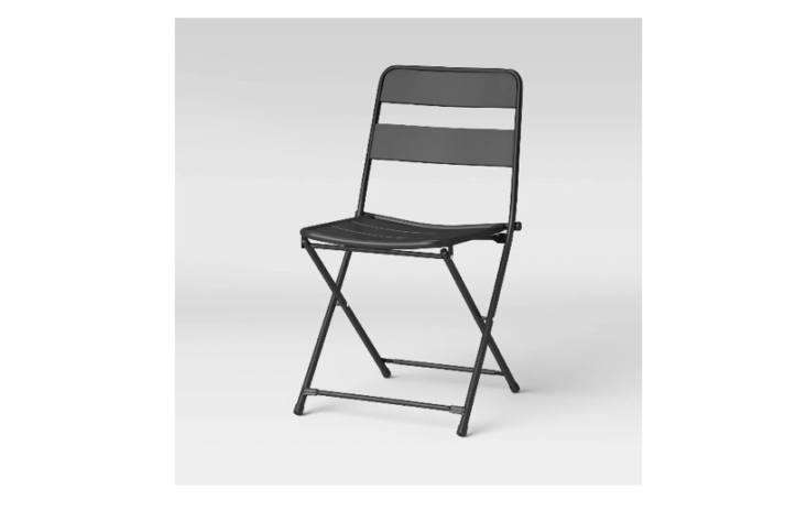 Target&#8\2\17;s Metal Slat Folding Patio Chair is another affordable pick; it comes in three colors and is \$35 each.