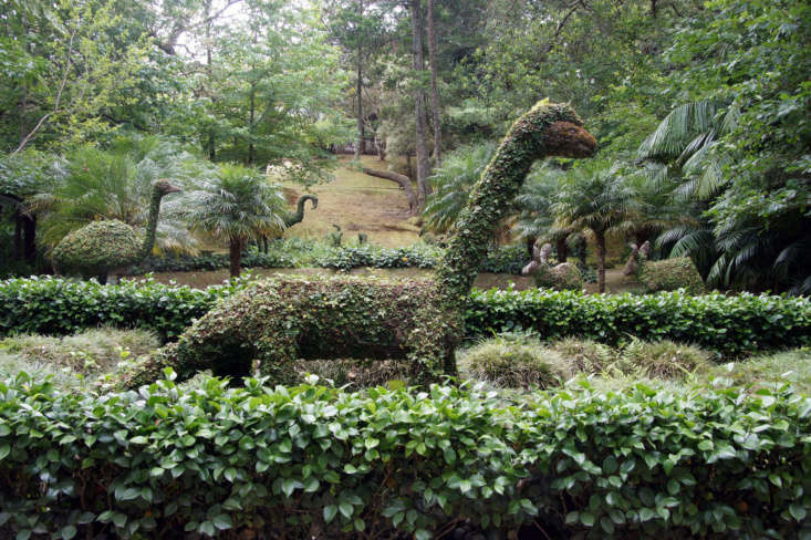 Dinosaurs still roam the earth at Terra Nostra Park in Furnas on the island of São Miguel in the Azores. Photograph by Putneymark via Flickr.