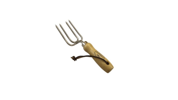 Made in the US by Garden Works, a Round Tine Hand Fork is loading=