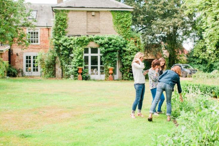 Floral designer Girling runs frequent floral arranging workshops in her garden.