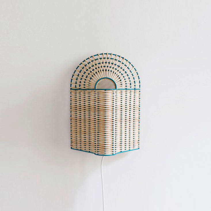 Colonel Paon Lamp Green and Natural Small